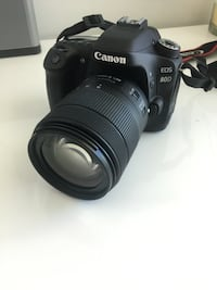 Canon 80D with lens + flash