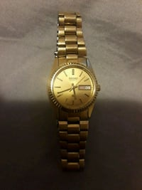 round gold-colored analog watch with link bracelet San Antonio, 78221