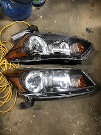 Pair of headlights from a 2011 Honda Accord if interested let me know thanks asking 100 bucks for both used condition oem North Castle, 10504