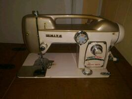 White Sewing Machine Great Condition Vintage