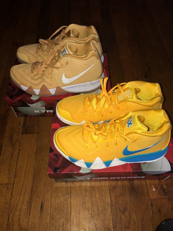 5eb1ca03ed3e43 Used Kyrie 4 Cinnamon Toast Crunch   Kix bundle pack size 10   9.5 ...