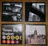 4 NYC Pieces of Wall Art Queens, 11435