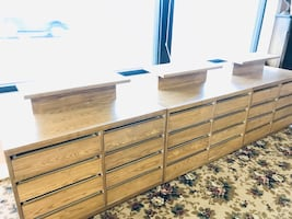 Display Cabinets with Gliding Drawers