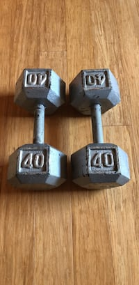 Solid Hex Dumbbell, Pair
