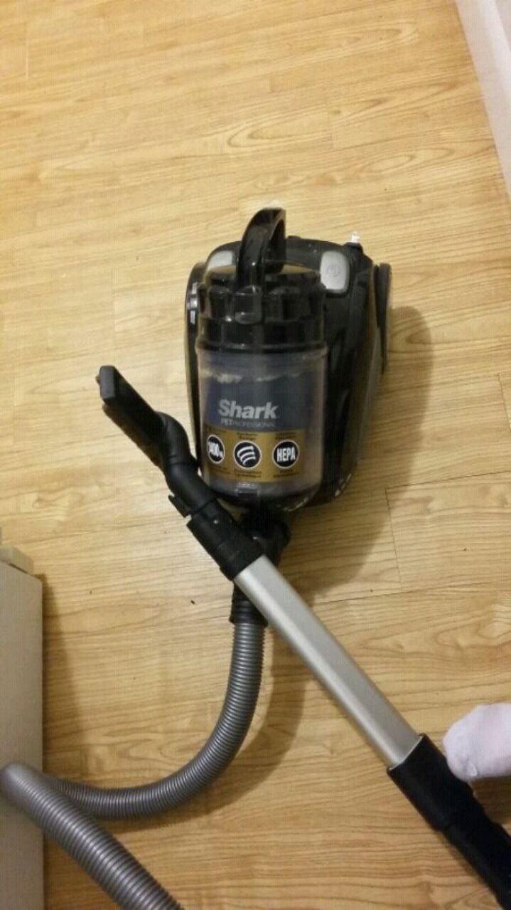 black and gray Shark canister vacuum cleaner for sale  Clarington