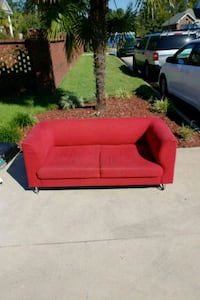 red fabric 2-seat sofa Florence, 29501