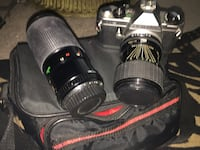 Pentax professional film camera with a 110 lens. 35 mm Cocoa, 32926