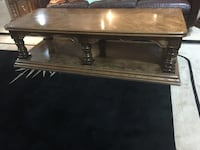 Rectangular brown wooden coffee table and two end pieces Vaughan, L6A 1E8
