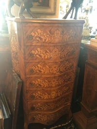 Antique French inlaid 7 drawer tall dresser negotiable  Toronto, M2R 3N1
