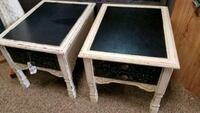 two white and black wooden side tables Archdale, 27263