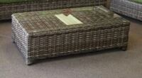 Patio coffee table with glass  Sherwood Park, T8A 5R9