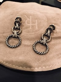 David yurman silver and diamond earrings 3127 km