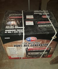 Portable generator. Box never opened pick up only.