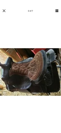 western ssddles bkack genuine leather in very good conditions  El Paso
