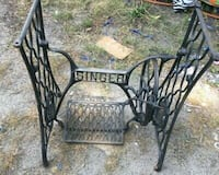 Antique singer sewing table base