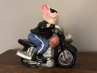 Motorcycle piggy bank 634 km