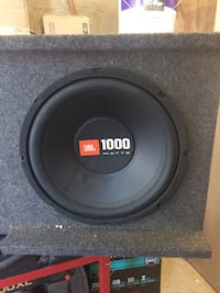 1000 watts black JBL subwoofer