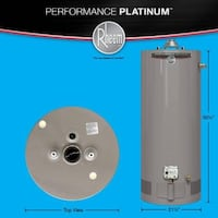Water Heater 209- Rheem Performance Plat. 40 gal. Natural gas Roswell, 30076