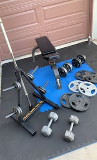 Bench and Complete Weight Set