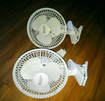 2 comfort zone clamp on fans