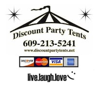 Party Tent Rentals - one day table tent & chair pkg  South Brunswick, 08824