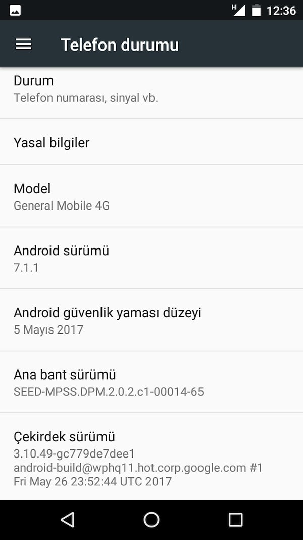 General mobile gm4 AciLl 2