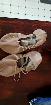 Gently used leather ballet shoes, size 7.5.  Round Hill, 20141