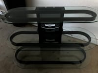 Tv stand glass oval
