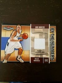 Dirk Nowitzki Game Used Jersey card Houston, 77040