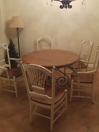oval brown wooden table with four chairs dining set Camarillo, 93010