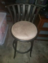 round brown wooden framed white padded chair San Francisco, 94103