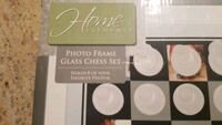 "32 piece glass chess set with 8 1.5"" x 1.5"" photo sleeves  Point Pleasant, 08742"