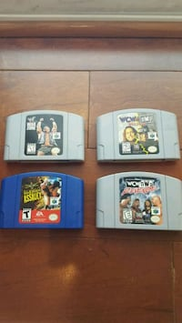 Nintendo 64 WF and WCW Games N64  Vienna, 22180