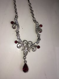 Silver-colored beaded necklace. Costume jewelry  Plymouth, 55442