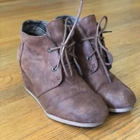 Brown Wedge Booties Chicago, 60605