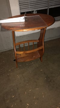 brown wooden drop leaf table Houston, 77092