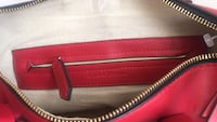 Red and black leather crossbody bag Chilliwack, V2P 6Z3