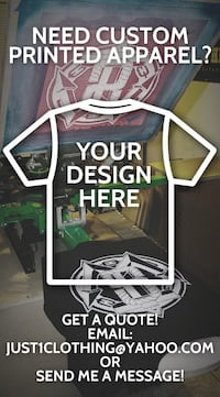 Custom Apparel Screen Printing and Heat Press Transfers (Affordable Prices / Quick Turnarounds)