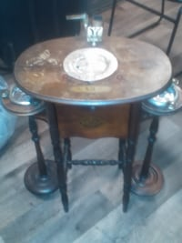 Over a 100 years old end table ashtray table Vancouver