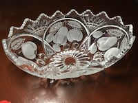 Beautiful Cut Glass Crystal Oval Bowl . Kitchener, N2H 2H8