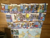 Lot of World Wall Map, City and State Travel Maps Houston, 77024