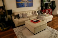 white leather sectional sofa with ottoman Seattle, 98121
