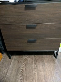 Trysil - brown wooden 2-drawer chest Abbotsford