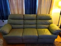 brown leather set of sofas. 600 or best offer.  Queens, 11362