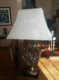 Off white and antique table lamp Calgary