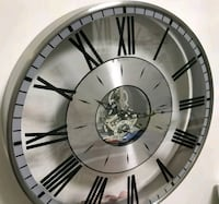 round silver-colored analog wall clock Toronto, M8V 3K7