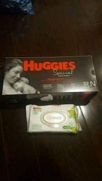Huggies new born pack and wipes packet  Toronto, M2P 1A5