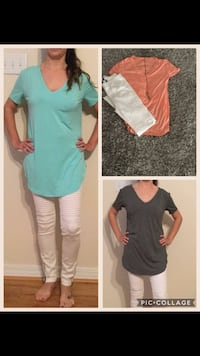 women's several assorted-color v-neck tops collage Grand Bay, 36541