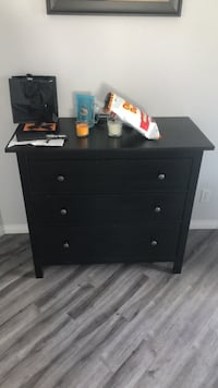 black wooden 3-drawer chest Calgary, T2Y