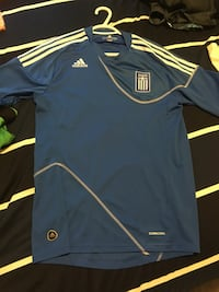 Greek adidas soccer jersey MUST SELL. Negotiable